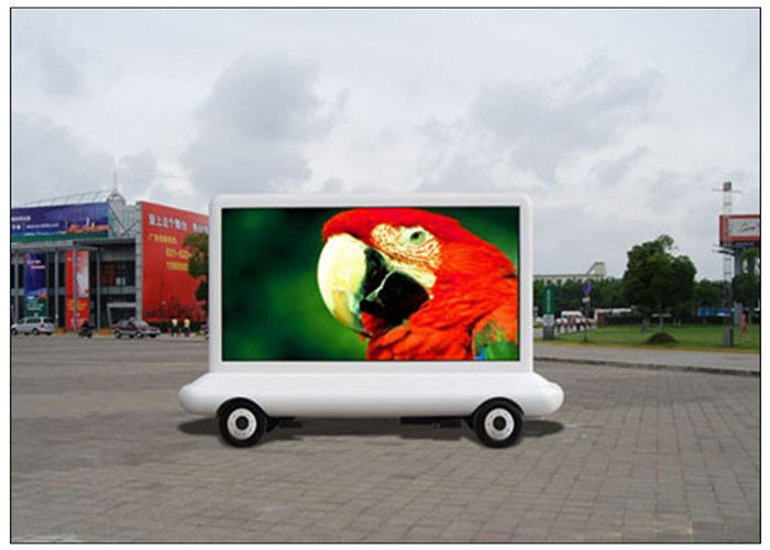 8000nits Brightness Truck Advertising Taxi LED Display 10000 pixels with Multimedia Control System