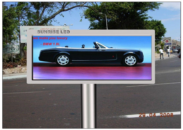 Advertising Transparent LED Screen , CE 16mm Pitch Pixel Electronic Display Board